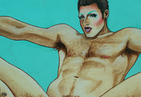 vintage gay porn Pictures docs randyrgb orig artist paints vintage gay porn stars drag face strange turn off